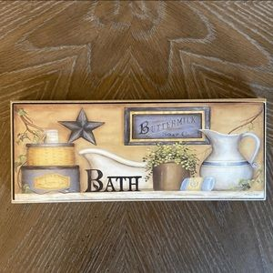 Bath Decor Sign